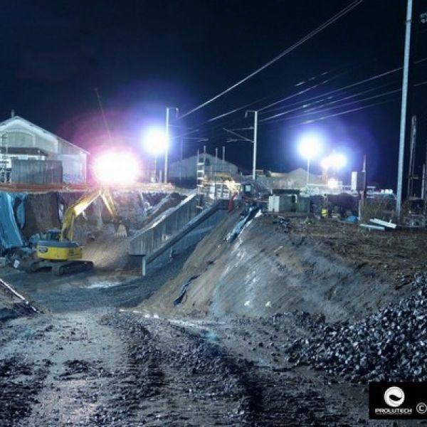 éclairage chantier ferroviaire
