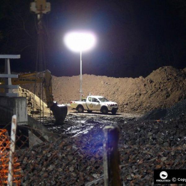 éclairage chantier de génie civil
