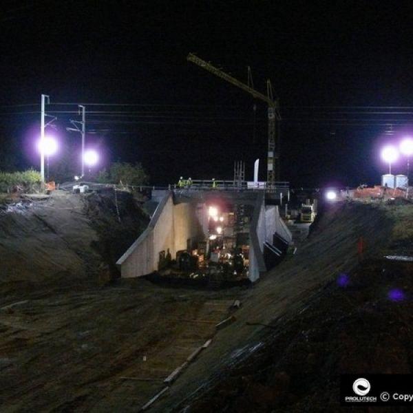éclairage chantier snctp
