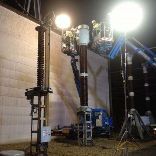 Eclairage maintenance EDF par ballons éclairants Airstar Prolutech