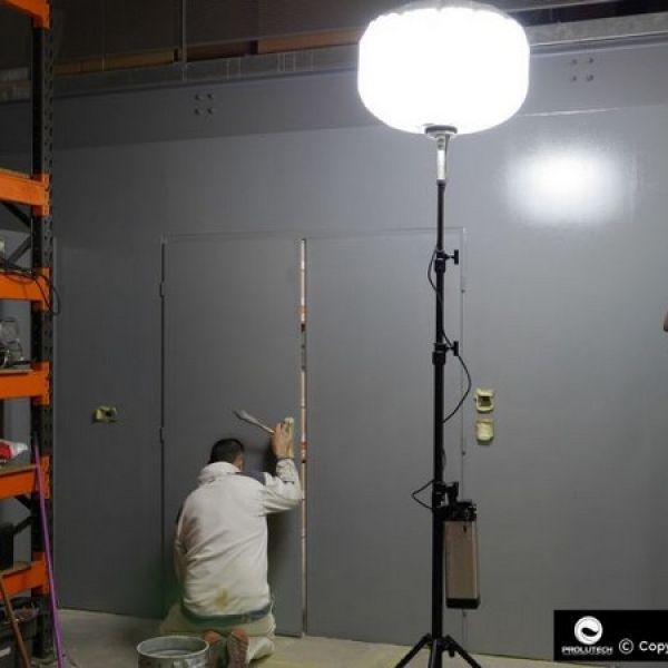 éclairage artisan peintre avec ballon airstar LED autonome proposé par prolutech