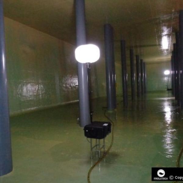 Eclairage services des eaux par ballons éclairants Airstar