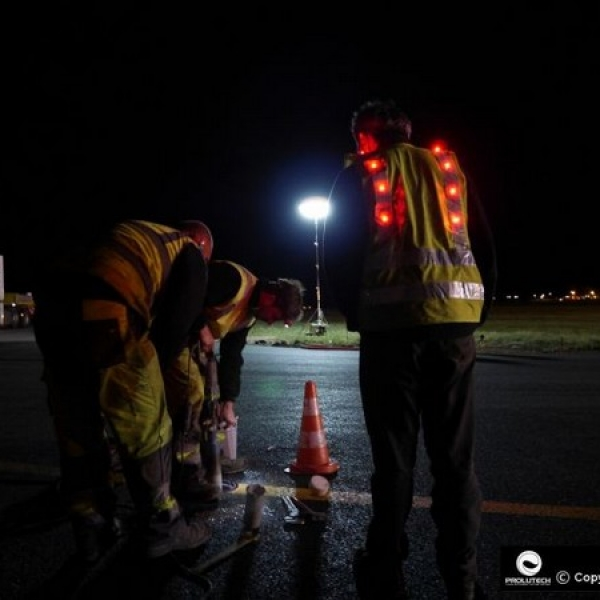 Gilet de sécurité LED EPI norme EN 471 classe 2 conçu par Prolutech