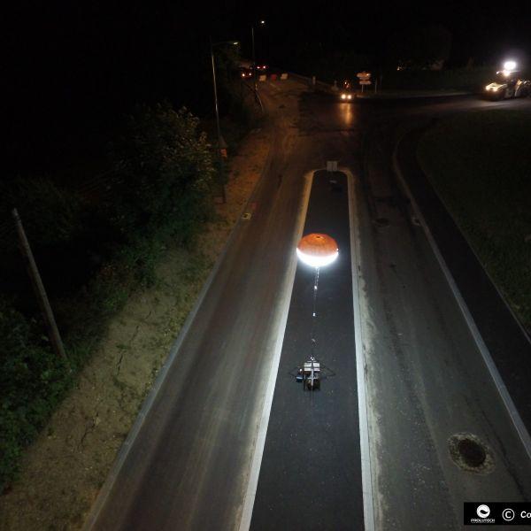 éclairage travaux par ballons éclairants