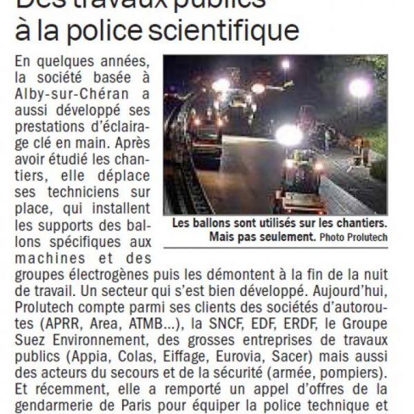 Un contrat de 3 ans sur des ballons lumineux avec la police scientifique